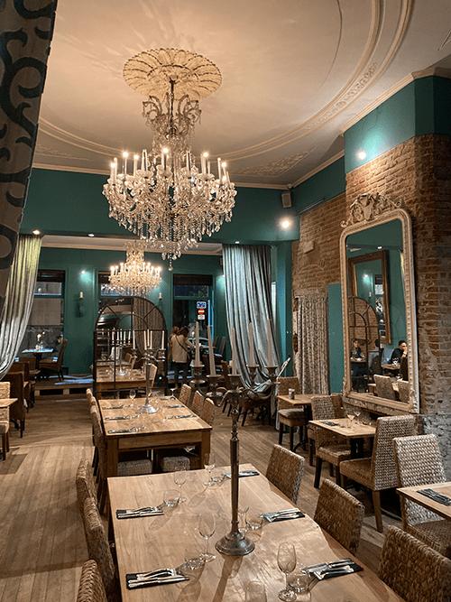 Restaurant vert de gris Bruxelles