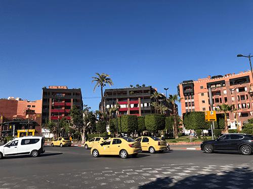 Balade dans le quartier moderne Gueliz de Marrakech