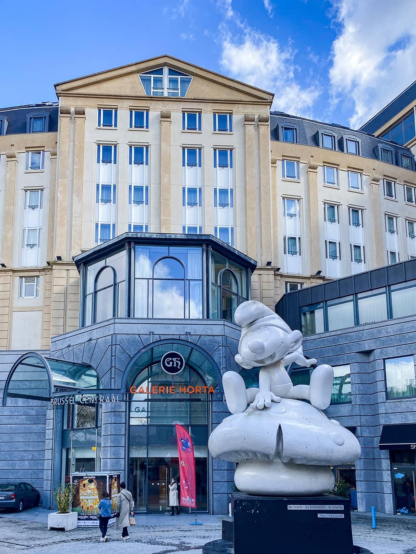 Entrée de la Galerie Horta accueillant l'expo Klimt à Bruxelles