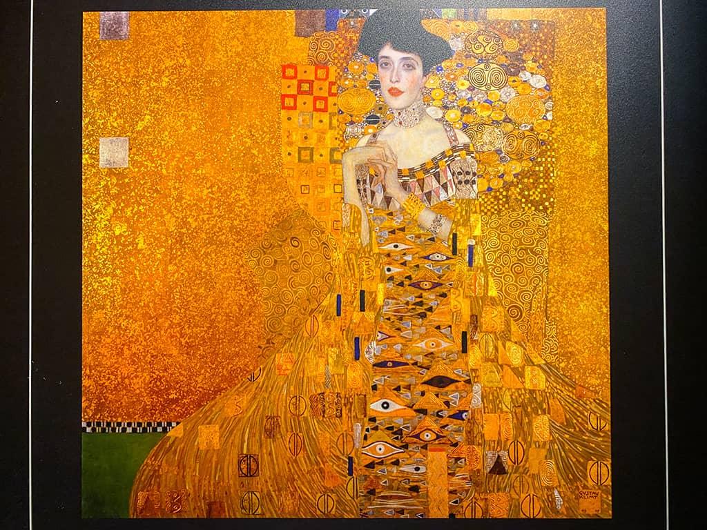 Reproduction du tableau du Portrait d'Adèle Bloch-Bauer peint par Gustav Klimt